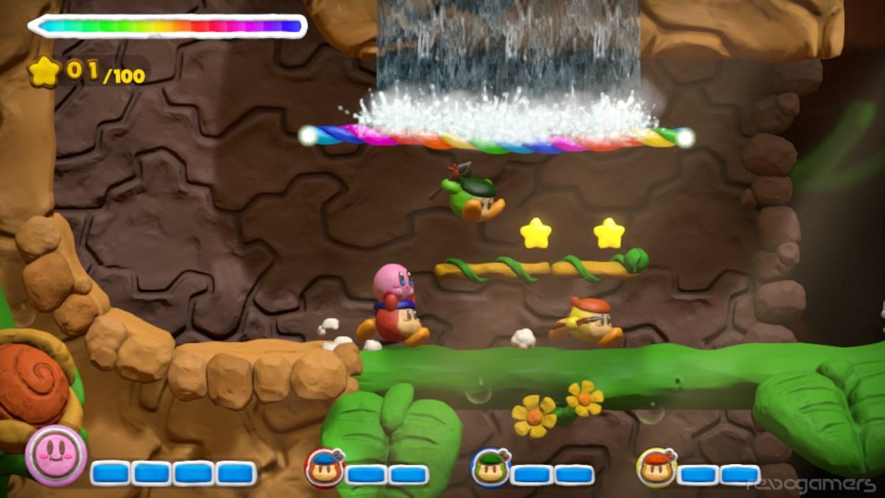 Multijugador Kirby y el pincel arcoíris Wii U