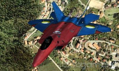 Caza F-22 Mario Ace Combat 3D New Nintendo 3DS