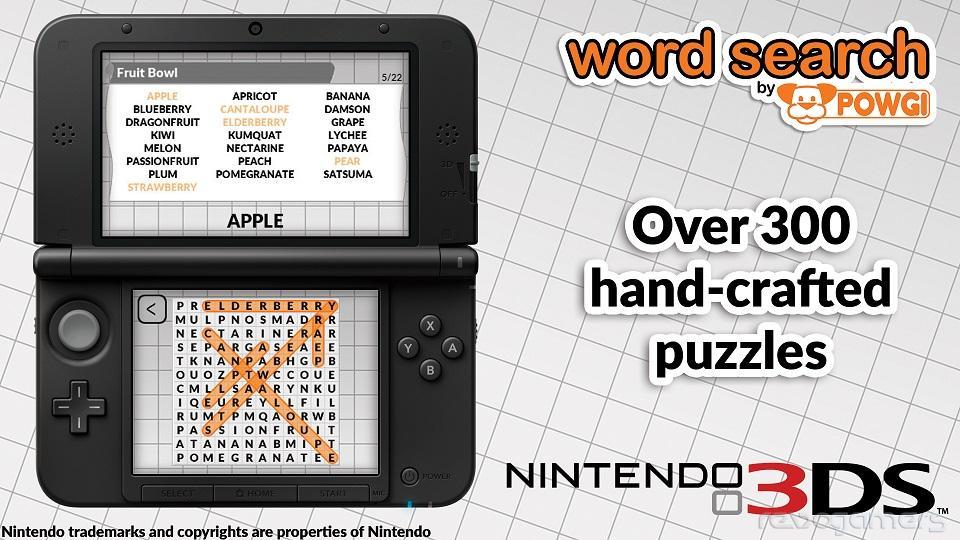 Word Search - crucigramas Wii U y 3DS