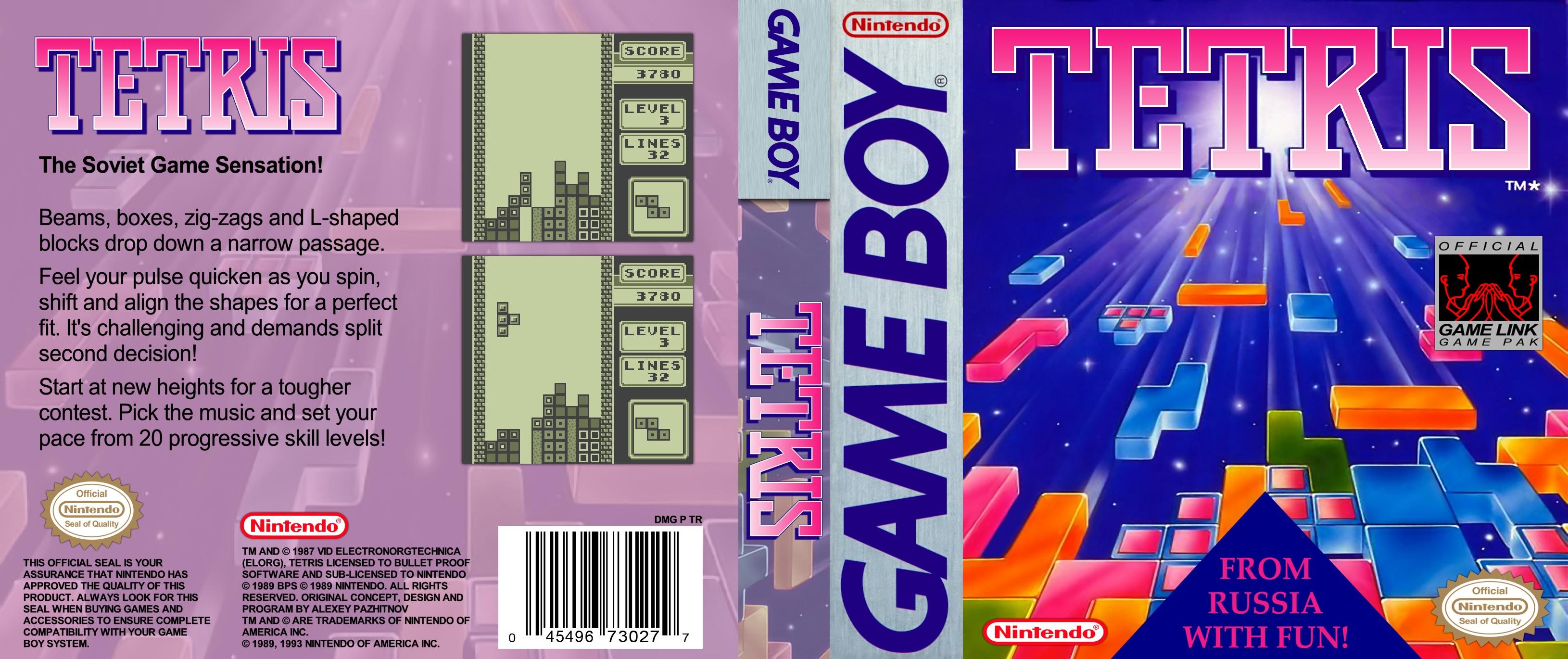 Game Boy Tetris cover