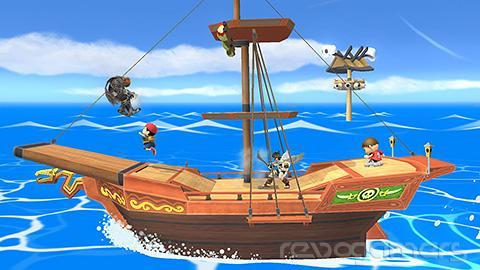 Escenario barco pirata Super Smash Bros. Wii U y 3DS