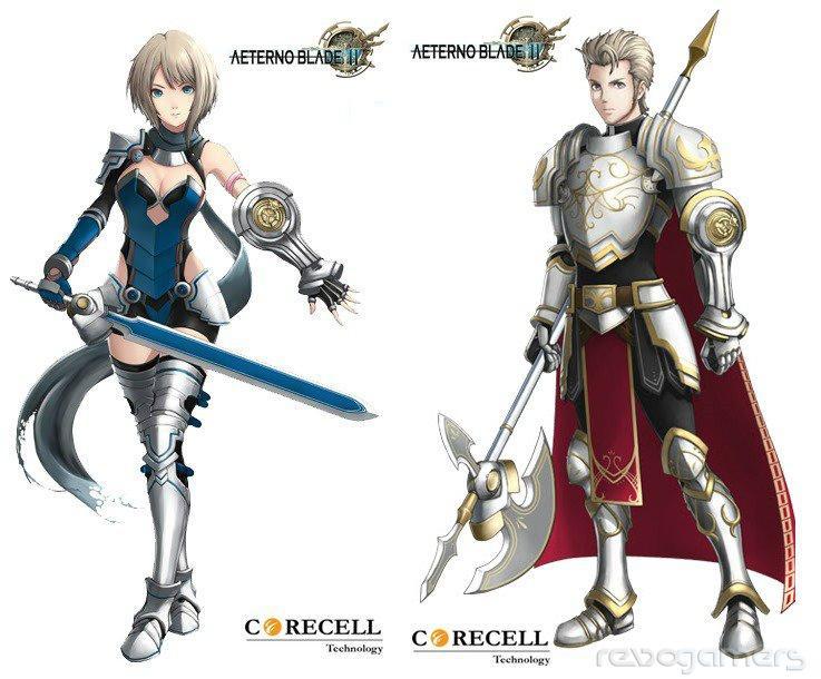 Aeternoblade II characters artwork
