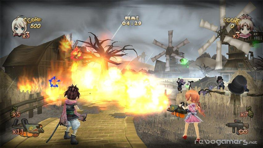 Zombie Panic in Wonderland Pantalla WiiWare