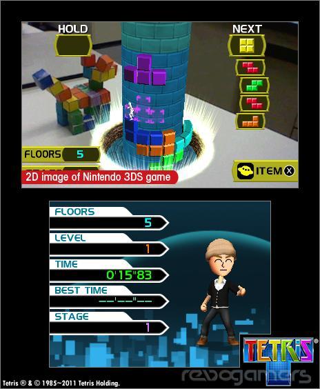 tetris nintendo 3ds realidad aumentanda