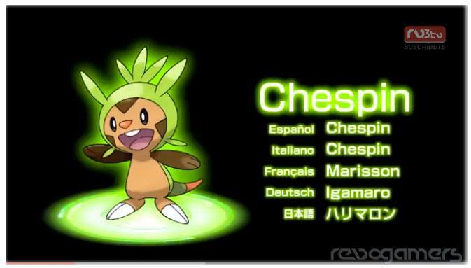 Starters Pokémon X Pokémon Y