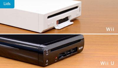 Tapa frontal de Wii U vs Wii