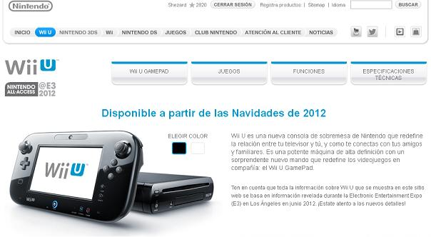 web oficial wii u españa
