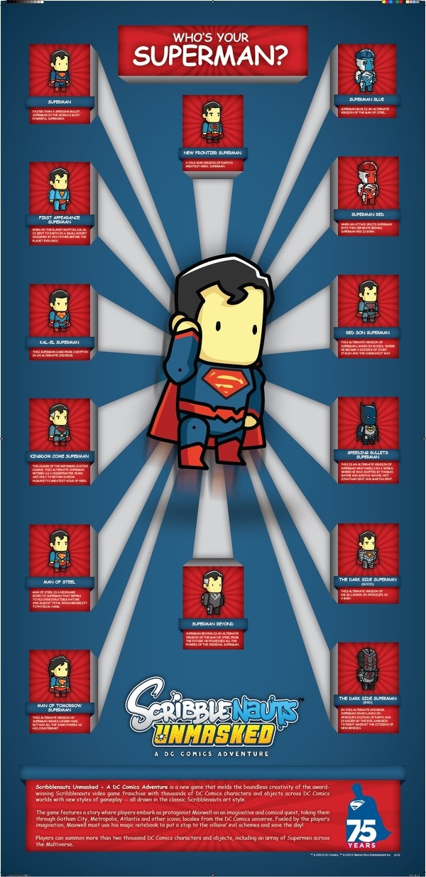 Scribblenauts Unmaked Superman tipes