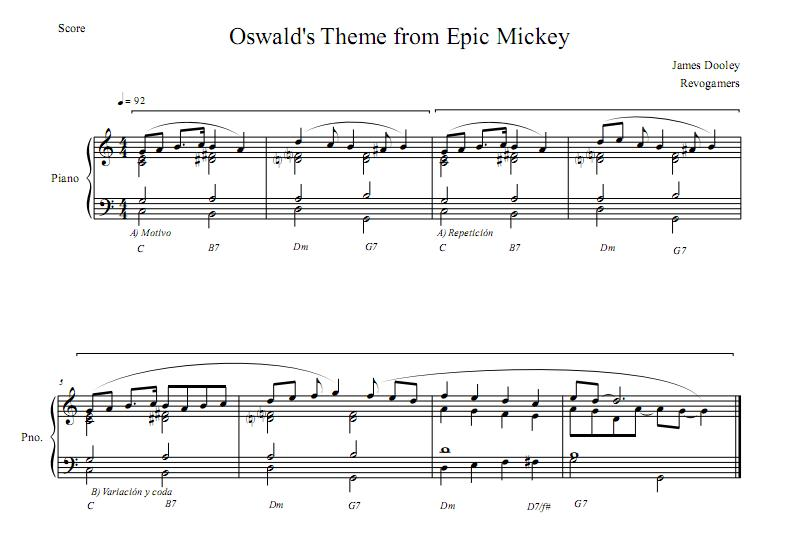 musica disney's epic mickey wii
